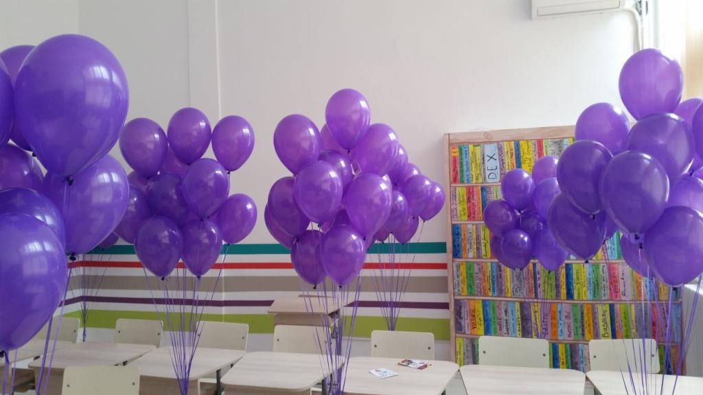 Baloane cu heliu mov
