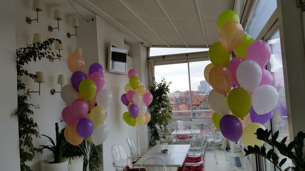 Baloane colorate cu heliu