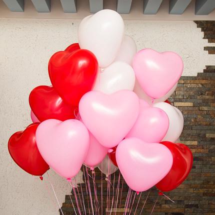 baloane rosii inima cu heliu