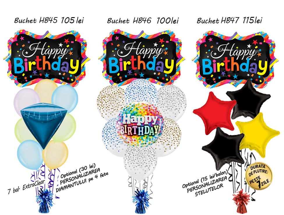 Buchete Baloane Happy Birthday