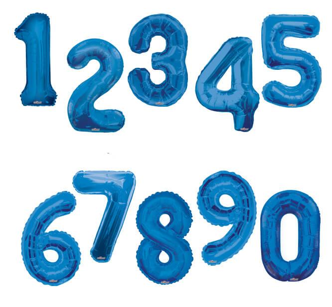 baloane cifre albastre