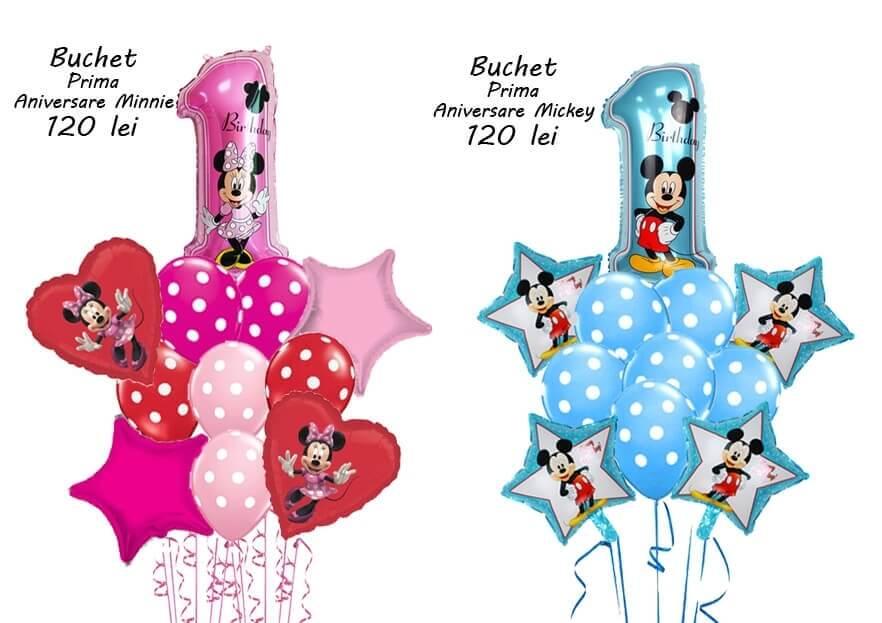 Buchet baloane prima aniversare