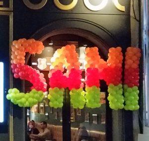 litere si cifre din baloane