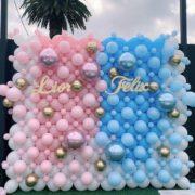Panou Photo baloane bleu si roz
