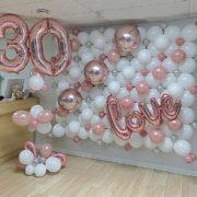 Perete baloane aniversare
