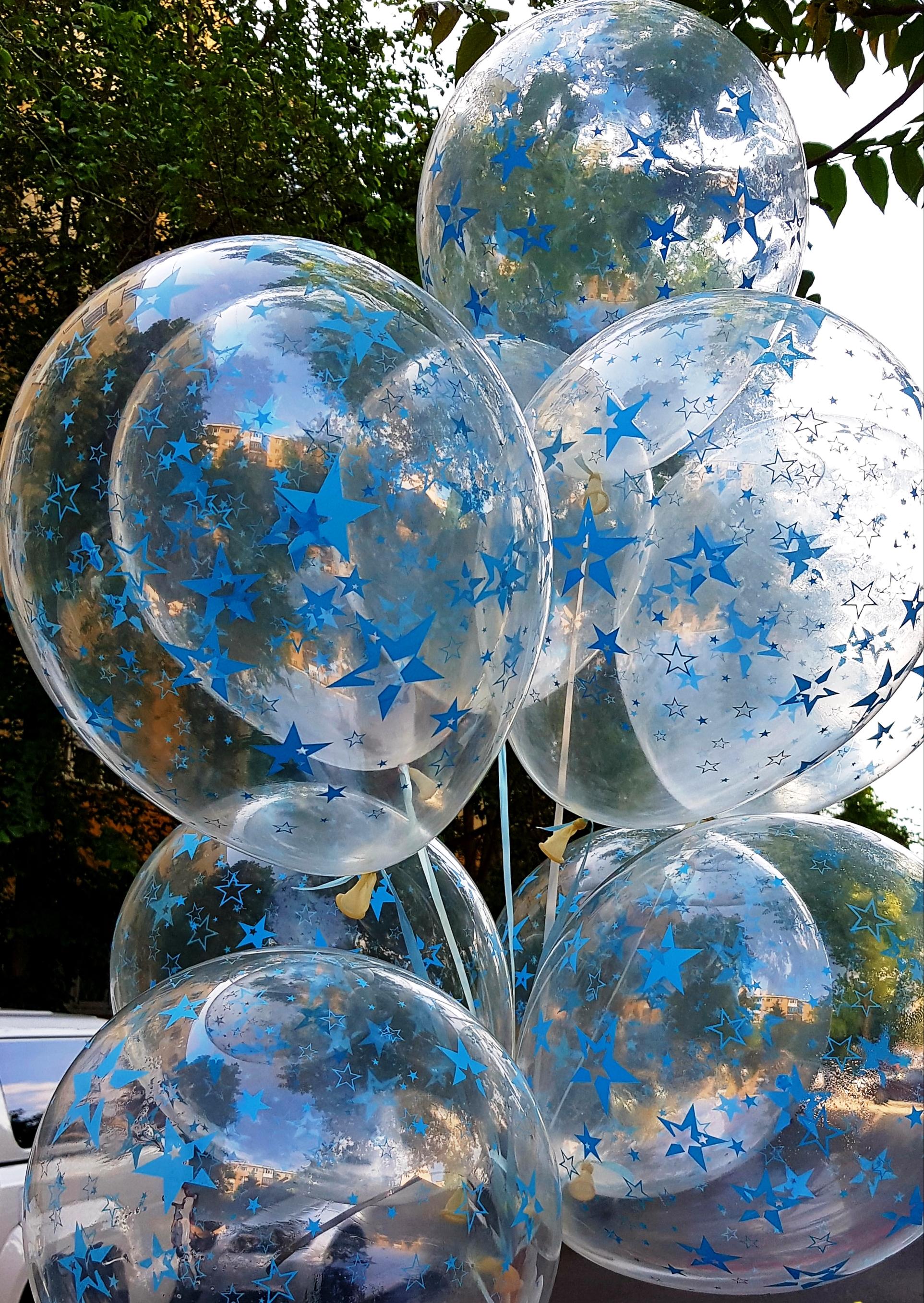 Baloane Print Stelute Albastre