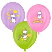 Baloane cu print unicorn