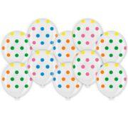 Baloane transparente cu print buline multicolore