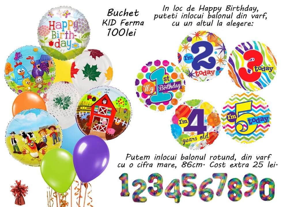 Buchet baloane cu heliu
