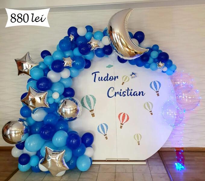 panou baloane bleo albastru
