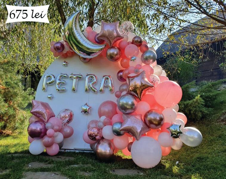 Baloane roz botez