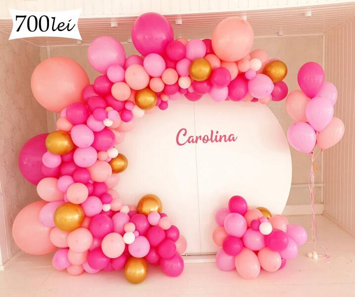 Photo corne baloane roz