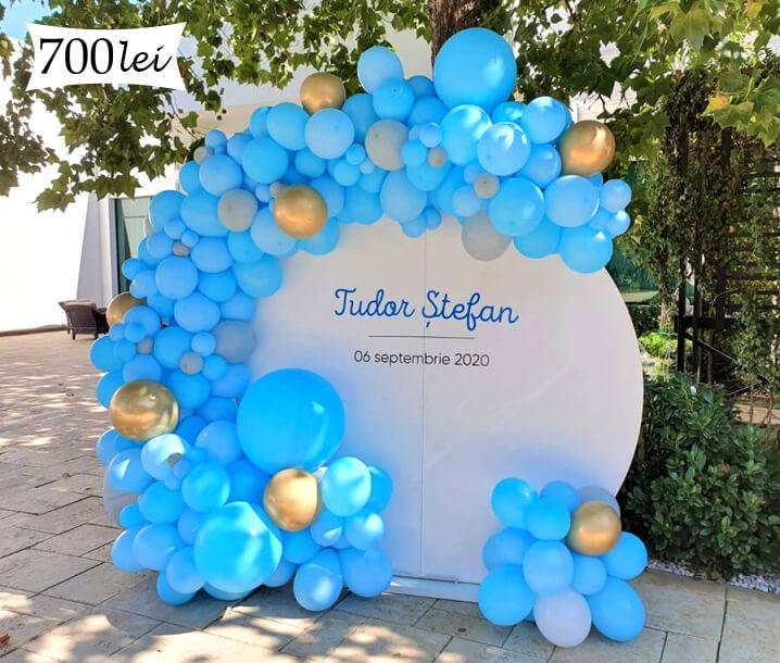 Photo corne baloane bleu