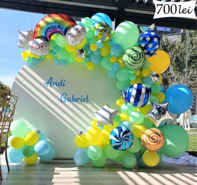 Ghirlanda baloane candy baiat