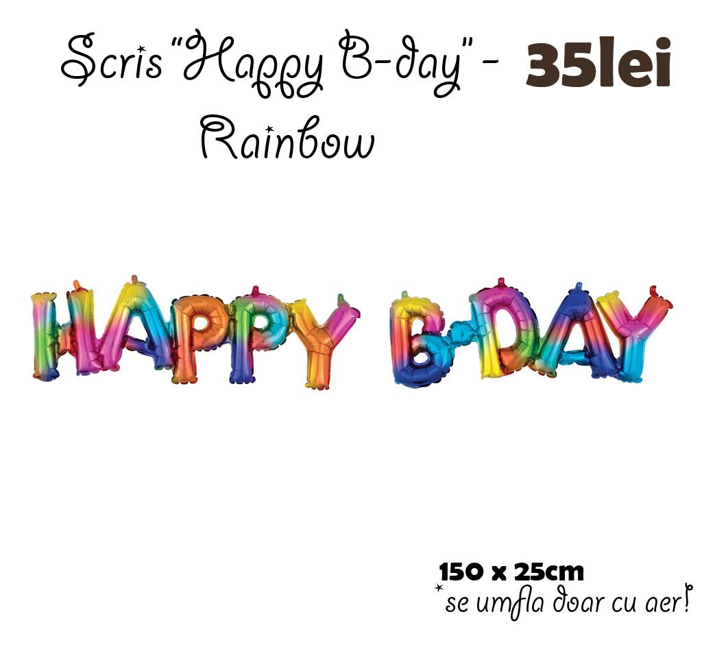 scris de mana - HB rainbow