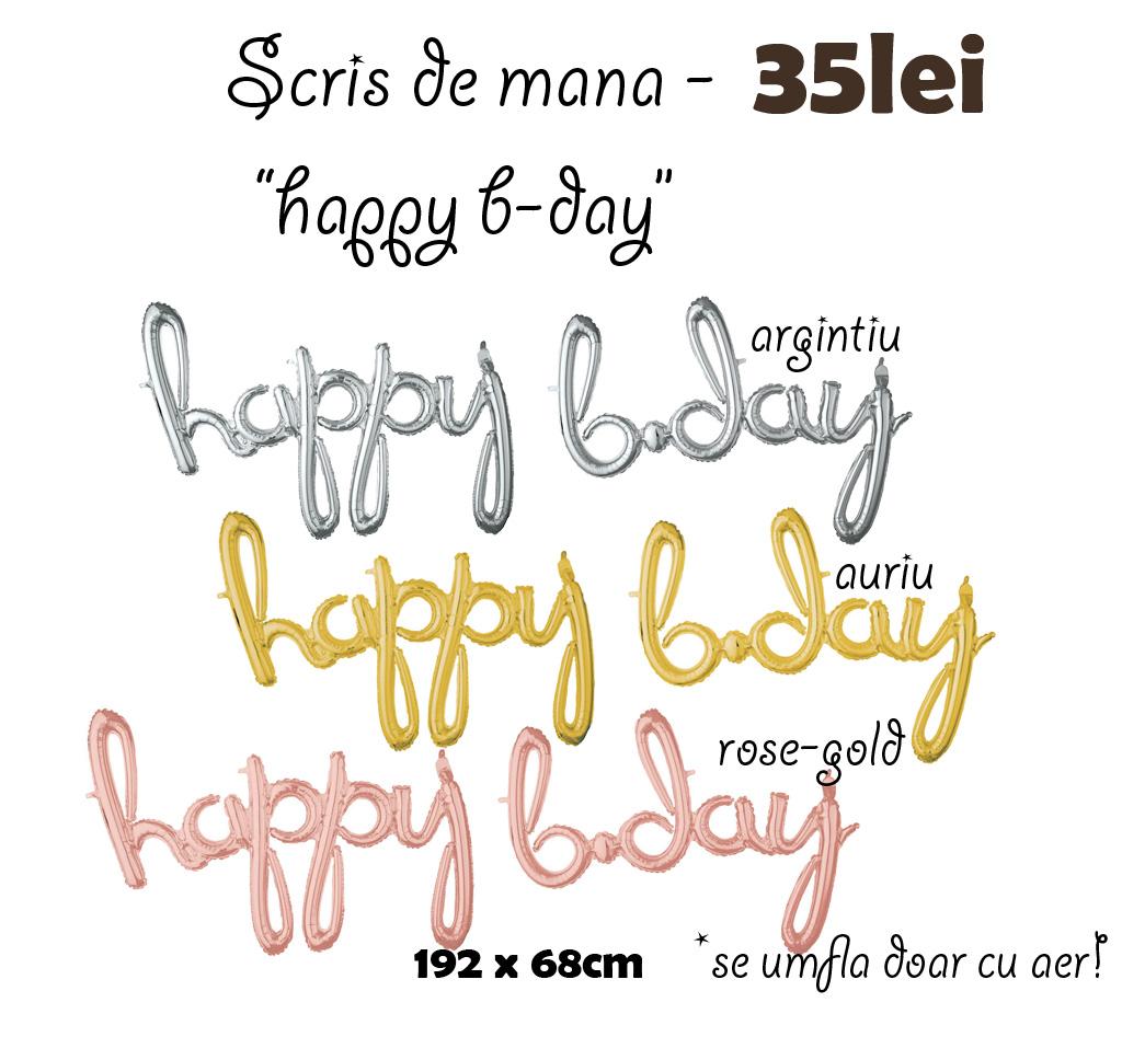 scris de mana - happy b-day