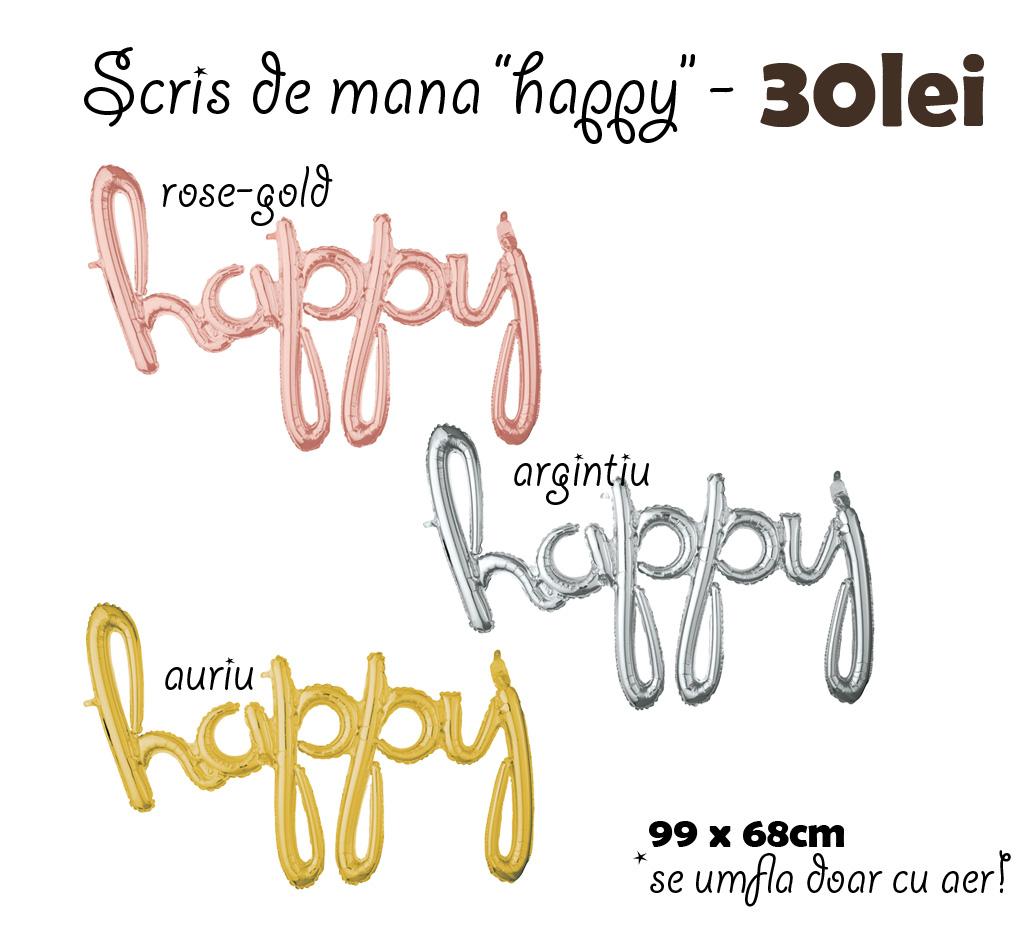 scris de mana - happy