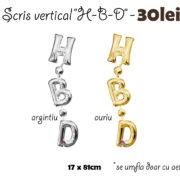 scris vertical- HBD