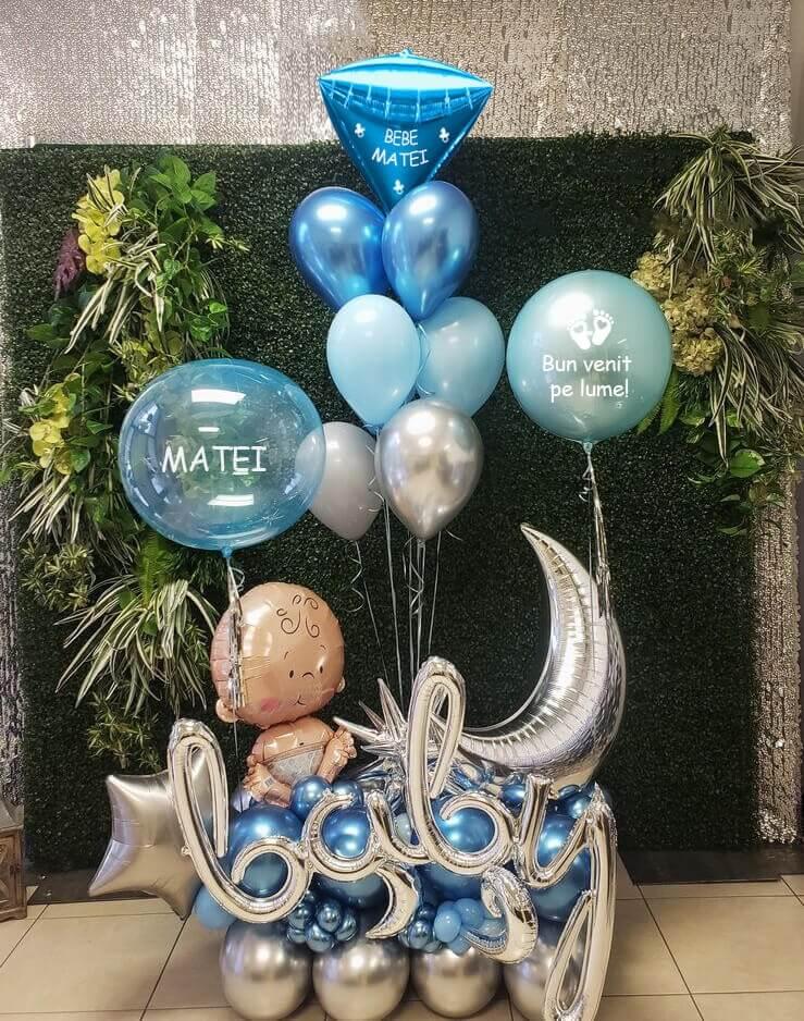 Buchete baloane cu heliu baiat
