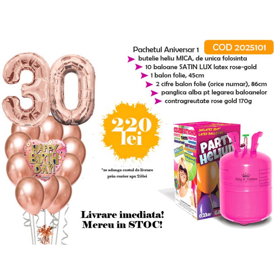 Baloane cu butelie de heliu