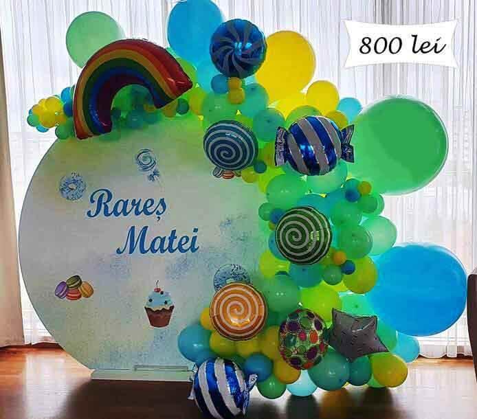 Panou photo cornec cu baloane tema candy